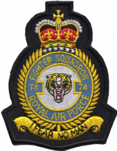 No. 74 (F) Squadron Royal Air Force RAF Crest MOD Embroidered Patch